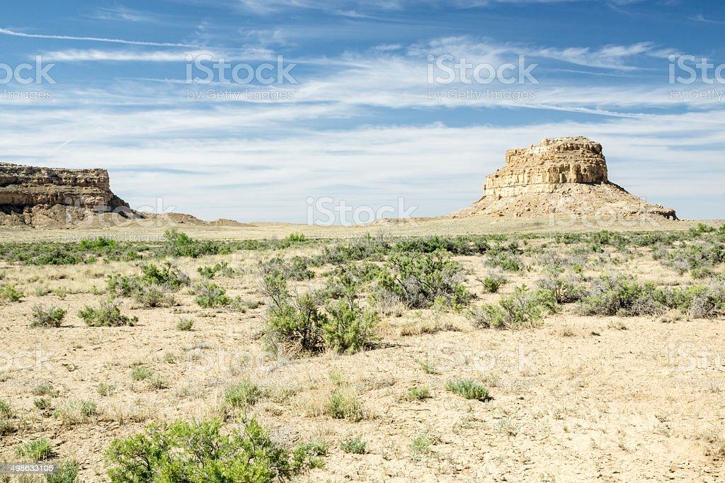Fajada Butte in Chaco Canyon stock photo