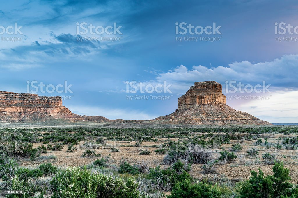 Fajada Butte in Chaco Culture National Historical Park, NM, USA stock photo
