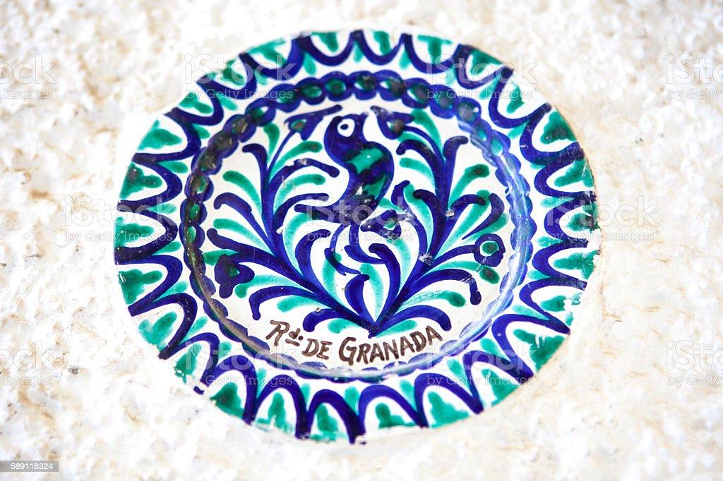Fajalauza ceramic, Granada stock photo