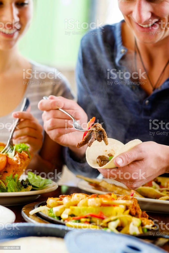 Fajita Dinner stock photo