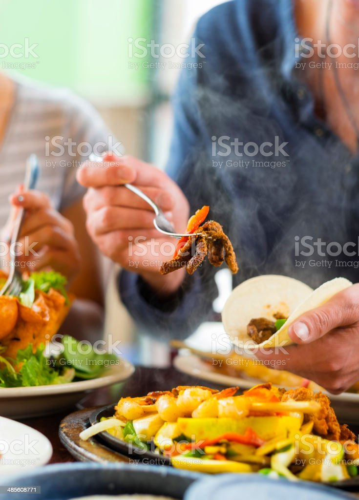 Fajita Dinner royalty-free stock photo