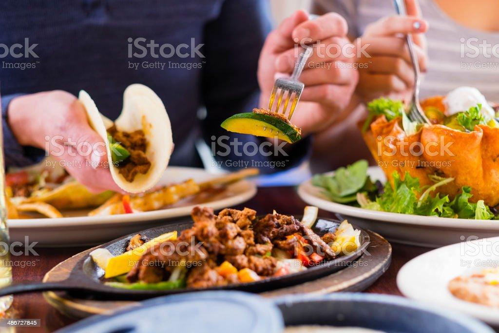 Fajita Dinner stock photo