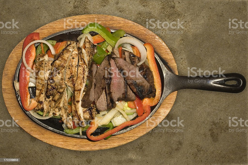 Fajita Dinner with Grilled Peppers and Onions royalty-free stock photo
