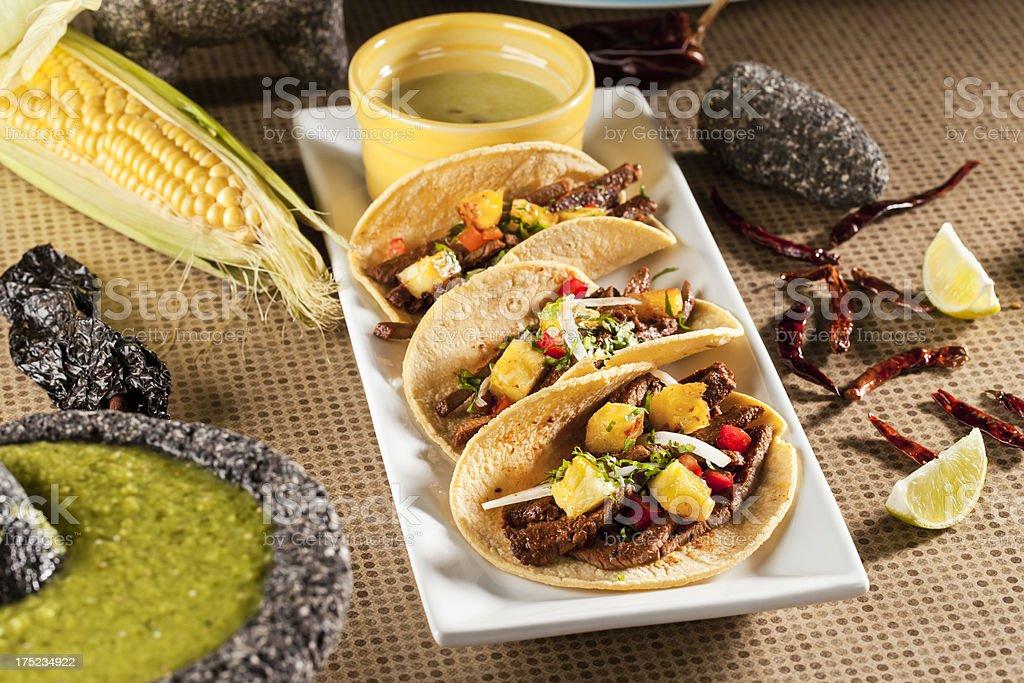 Fajita Tacos stock photo