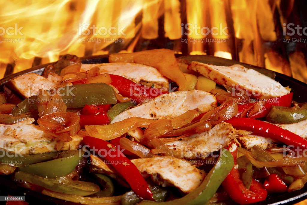 Fajitas and Flames royalty-free stock photo