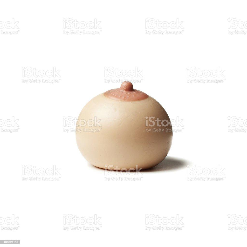 Fake Boob stock photo