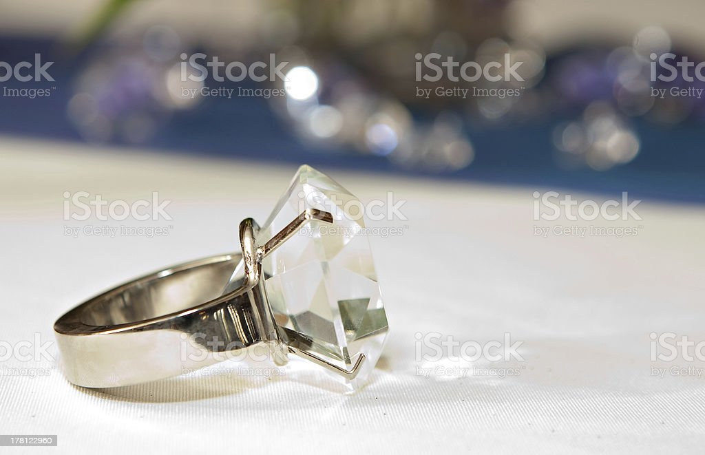 Fake Diamond Ring stock photo