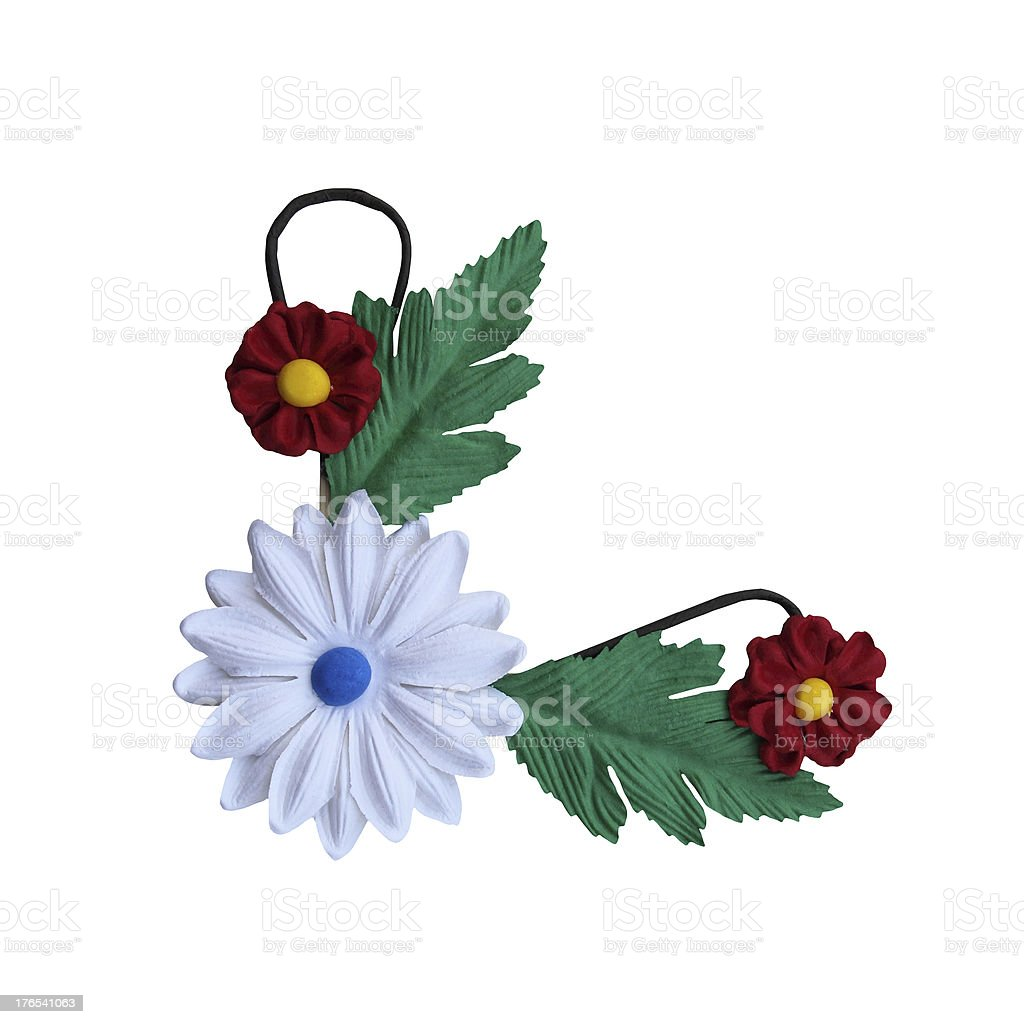 fake flower isolated on white background for flame and border royalty-free stock photo