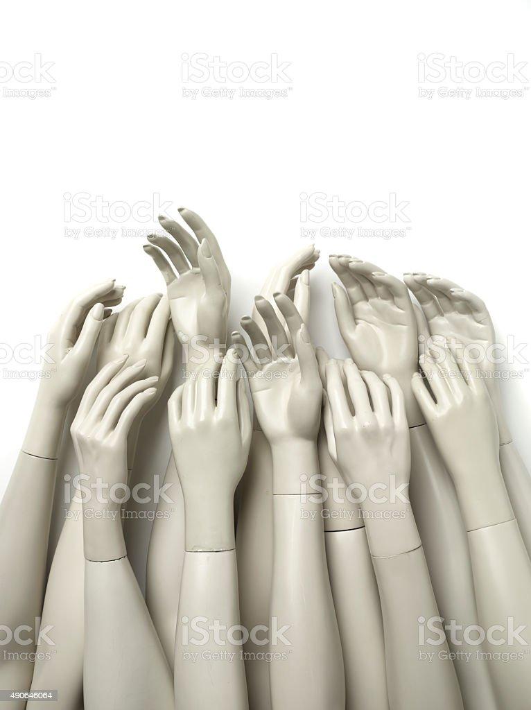 Fake Hands stock photo