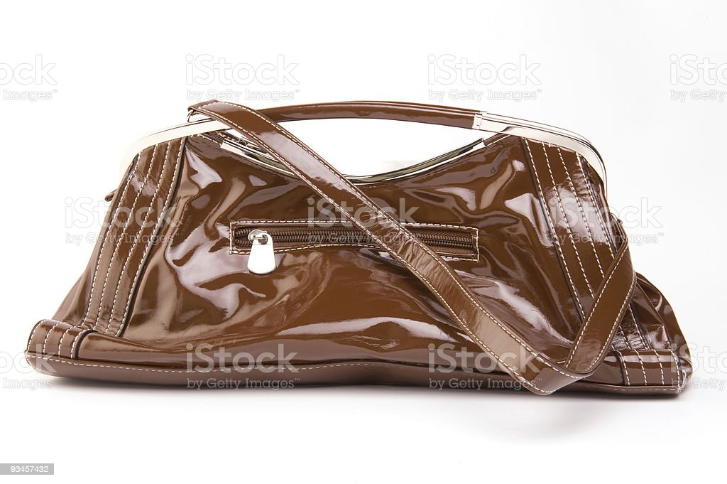 fake leather bag royalty-free stock photo
