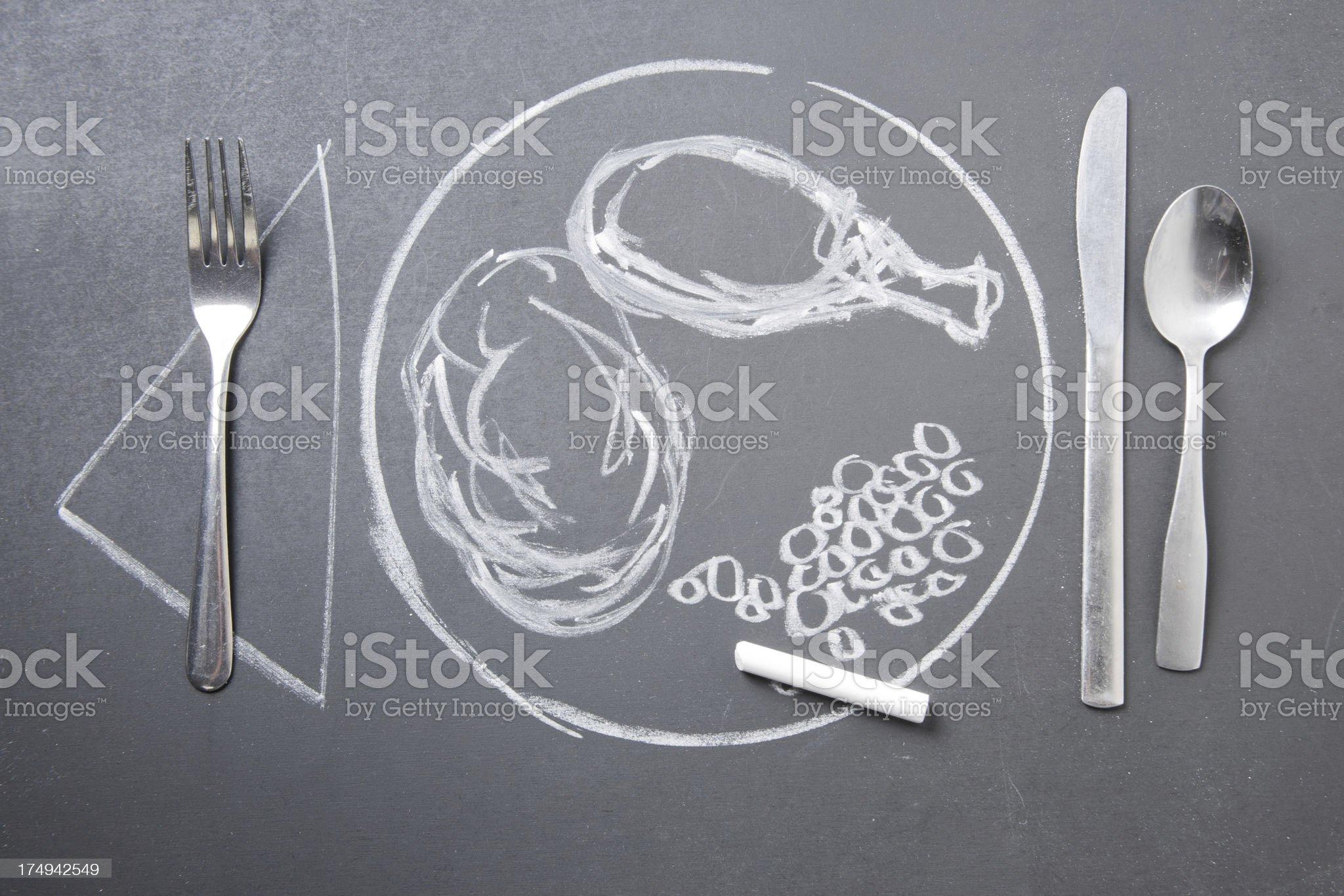Fake Meal royalty-free stock photo