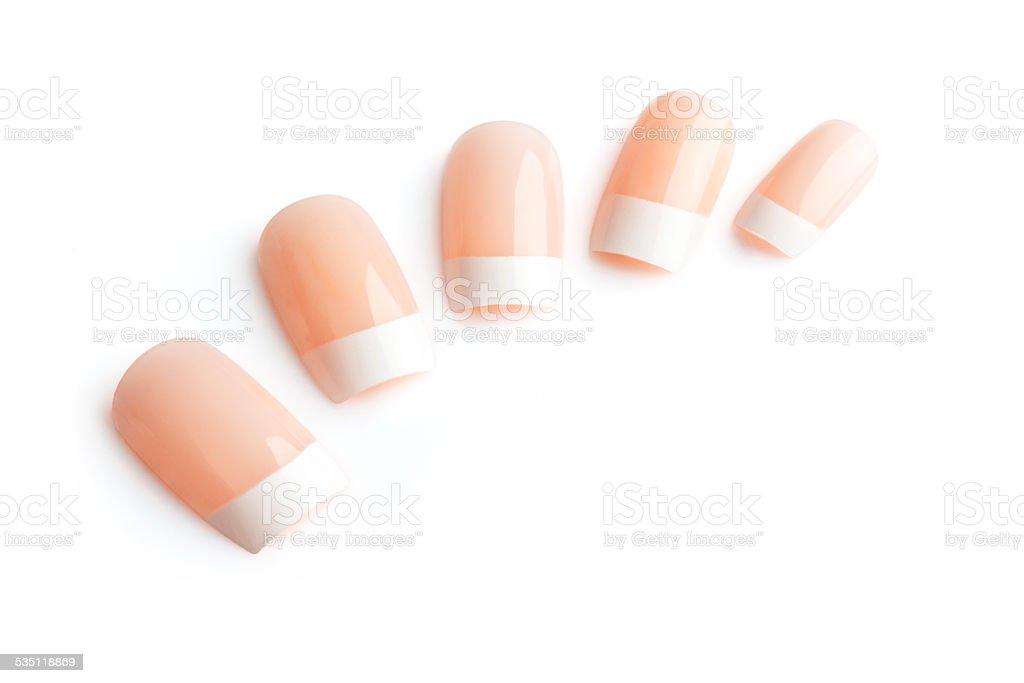 Fake nails stock photo