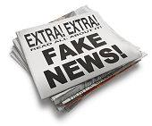 'Fake News' Newspaper Headline On White Background