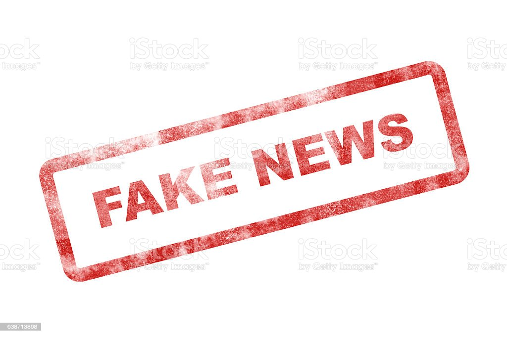 Fake News Stamp stock photo