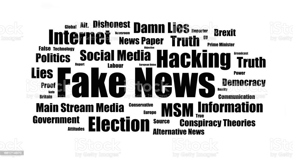 Fake News - UK stock photo