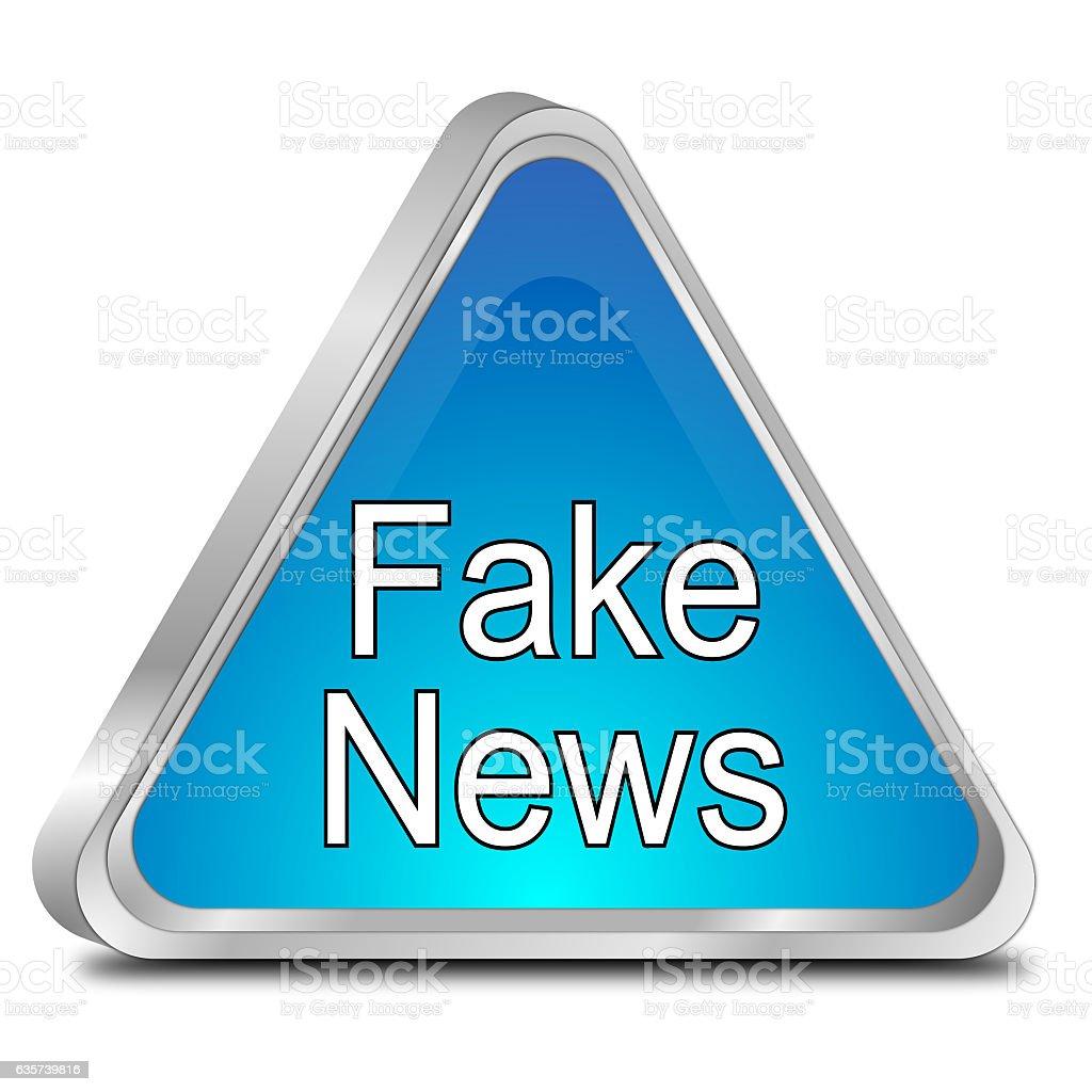 Fake News warning sign - 3D illustration stock photo
