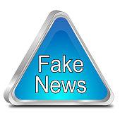 Fake News warning sign - 3D illustration