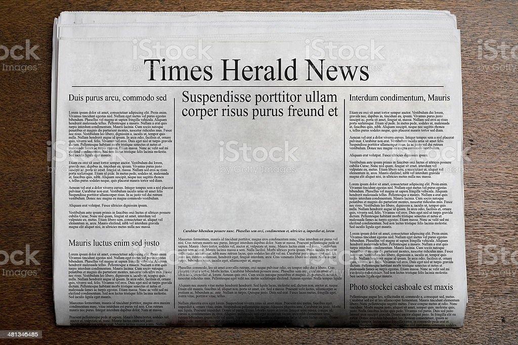 Fake Newspaper stock photo