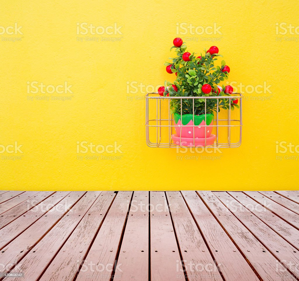 Fake ornamental plants stock photo