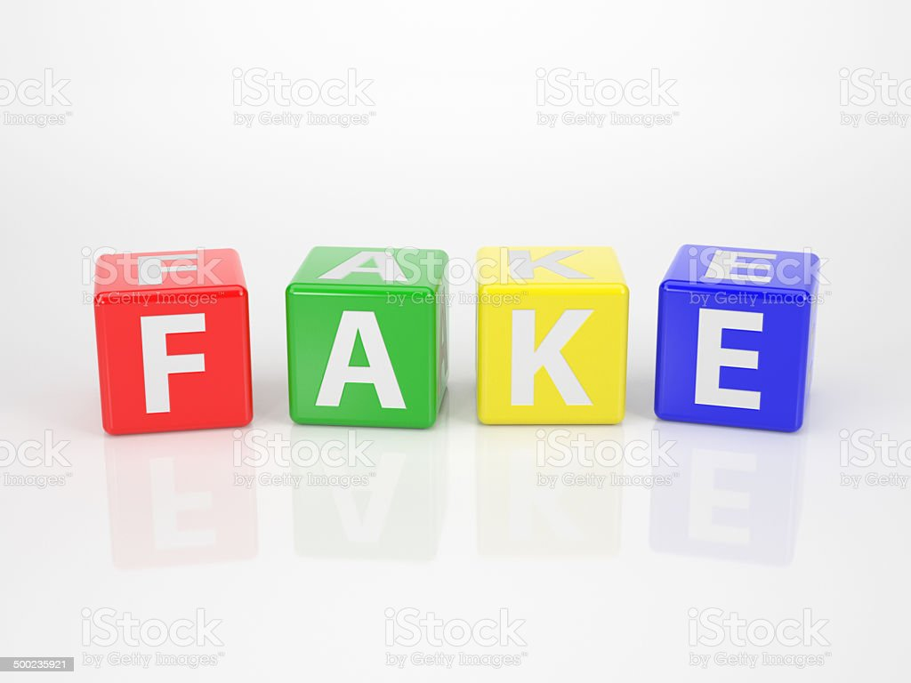 Fake out of multicolored Letter Dices stock photo