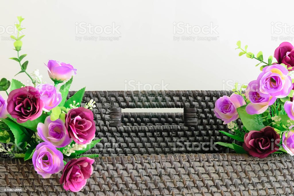 fake rose stock photo
