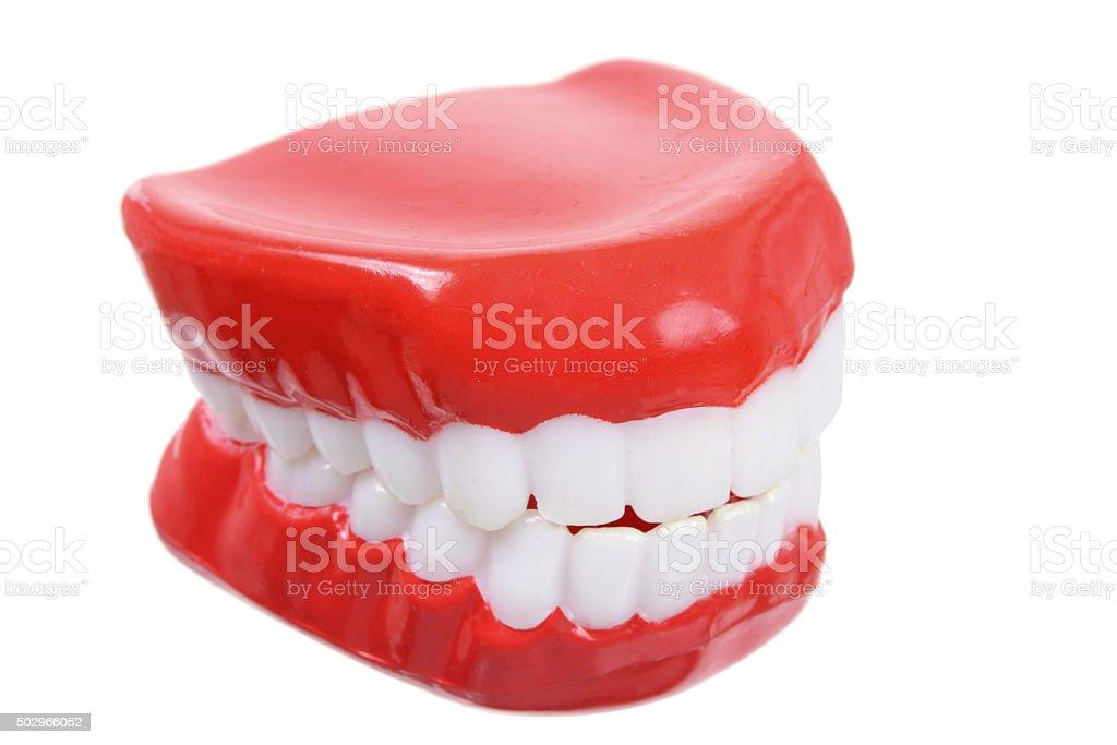 Fake Teeth stock photo