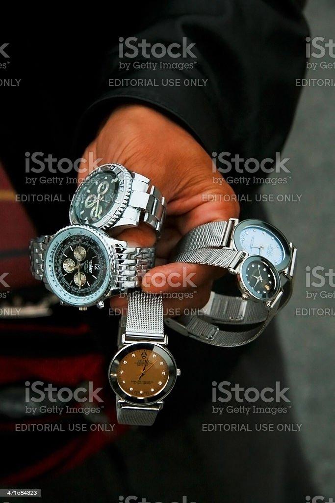 Fake watches stock photo