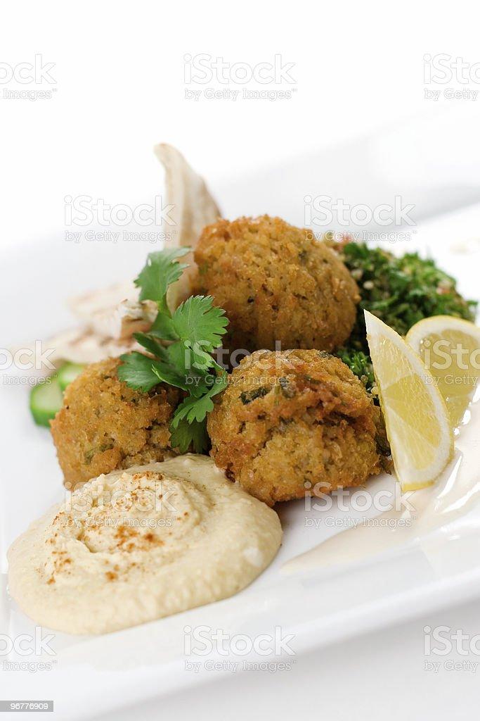 Falafel and Hummus royalty-free stock photo