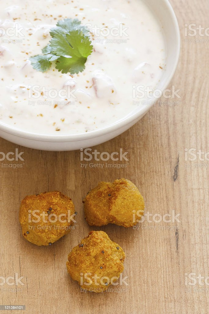 Falafel and Yogurt royalty-free stock photo
