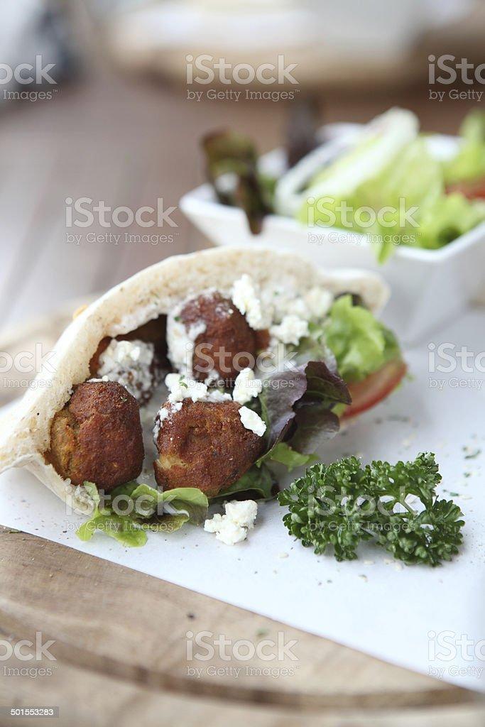 Falafel in a Pita stock photo