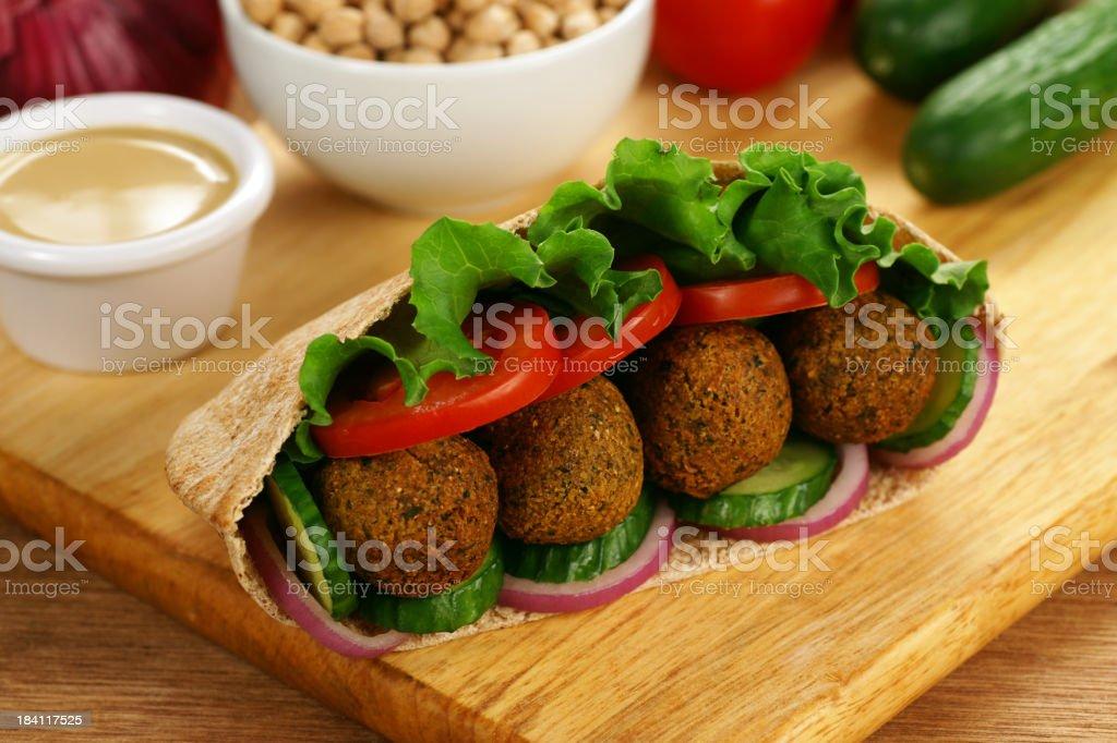 Falafel in Pita royalty-free stock photo