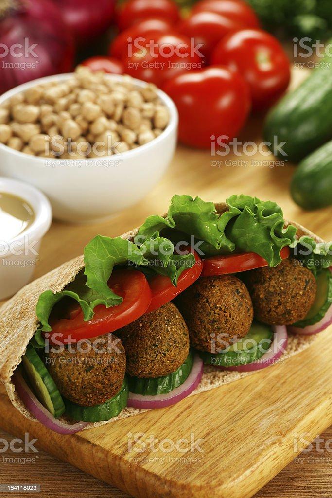 Falafel in Pita stock photo