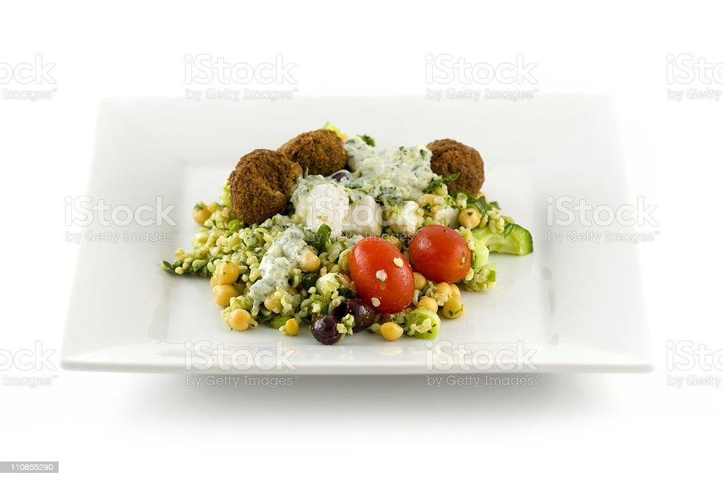 Falafel Salad royalty-free stock photo