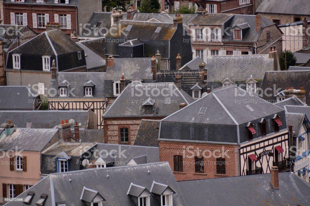 Falaise d'Amont Etretat City Normandy France Europe stock photo
