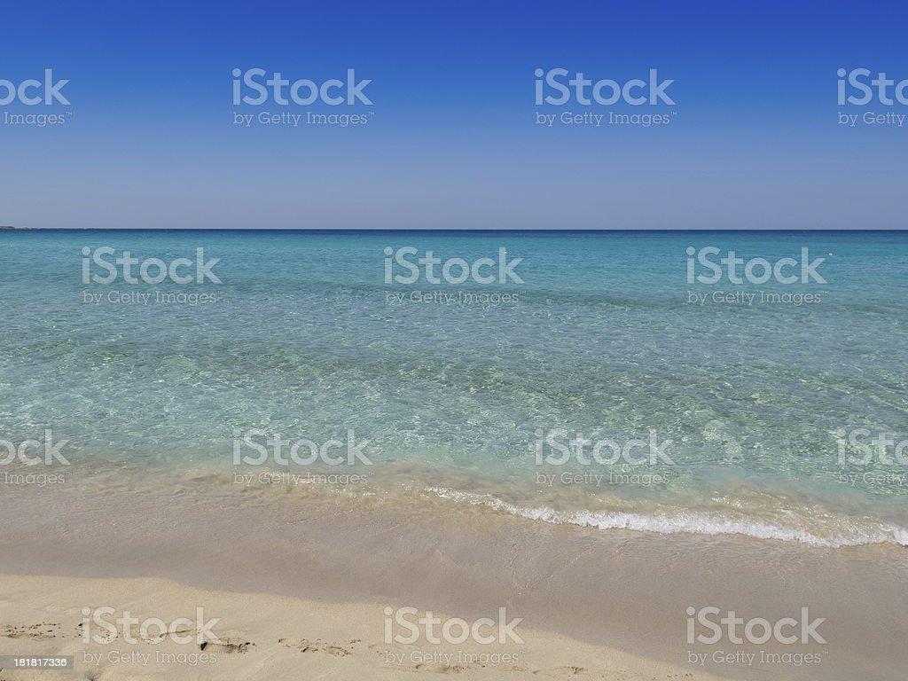 Falasarna Beach in Crete, Greece royalty-free stock photo
