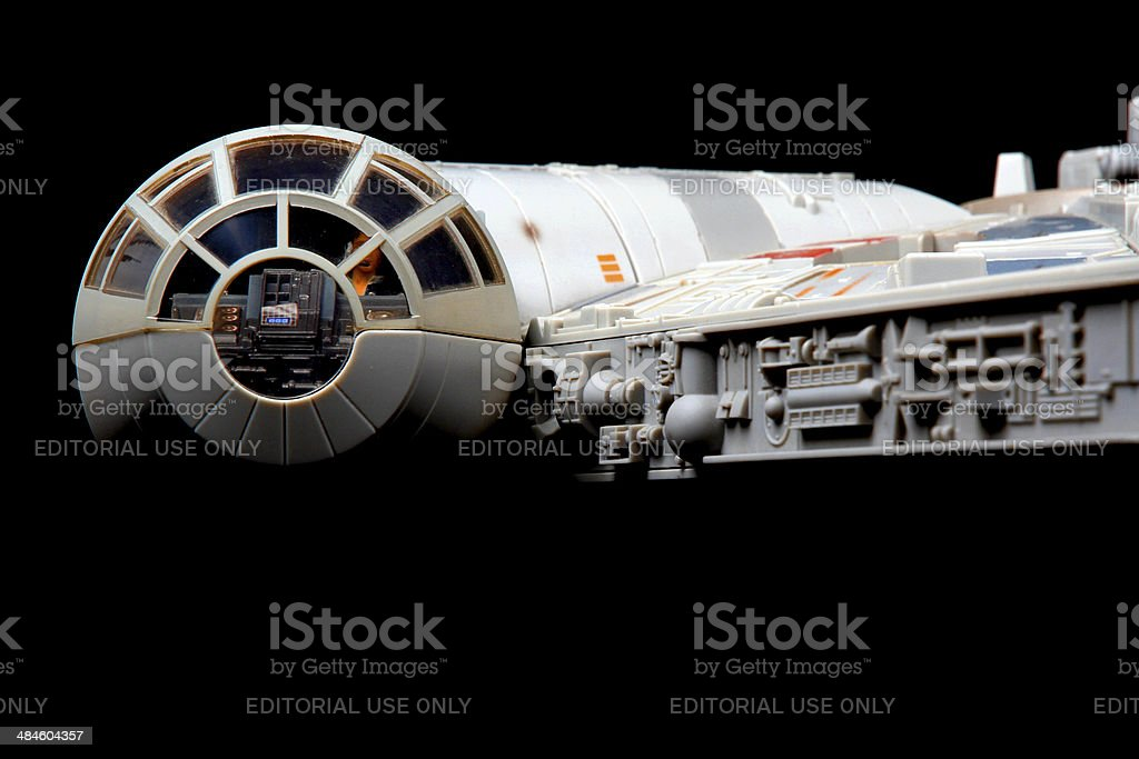 Falcon in Space stock photo