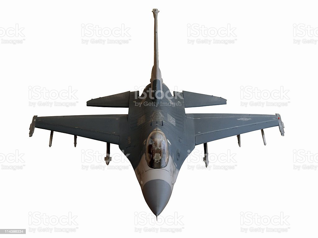 F-16 Falcon Model (with path) royalty-free stock photo