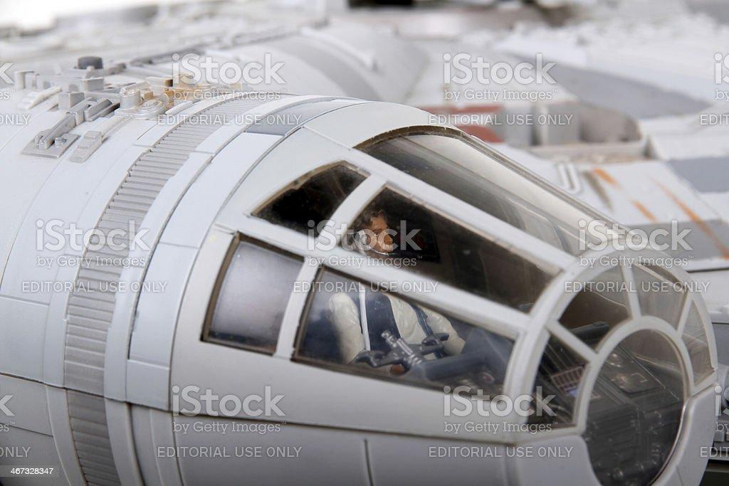 Falcon Pilot royalty-free stock photo