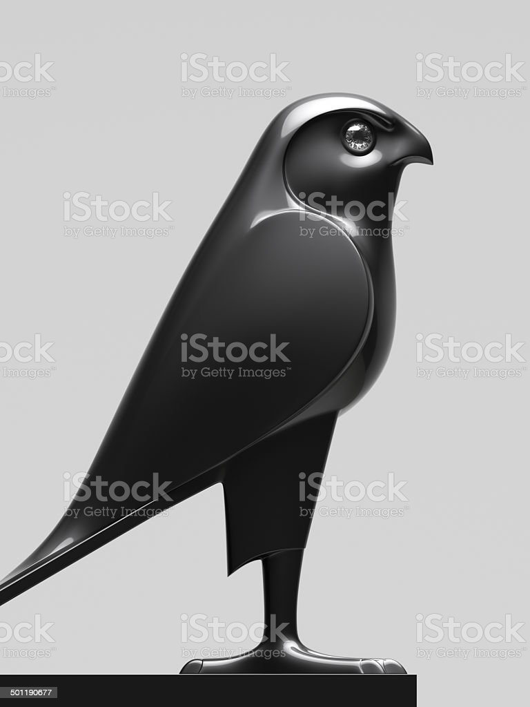 Falcon Statue XL stock photo