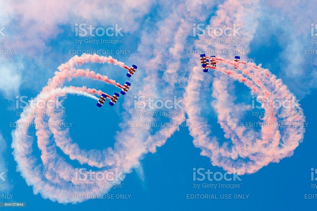 Falcons Parachute Display Team stock photo