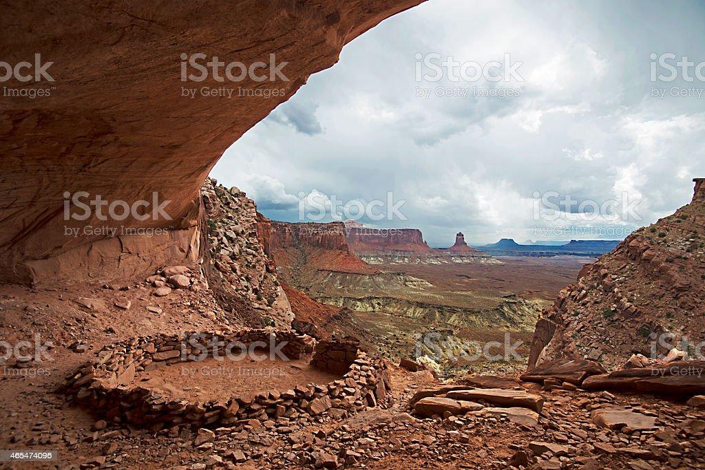 Fale Kiva Canyonland National Park,Utah stock photo