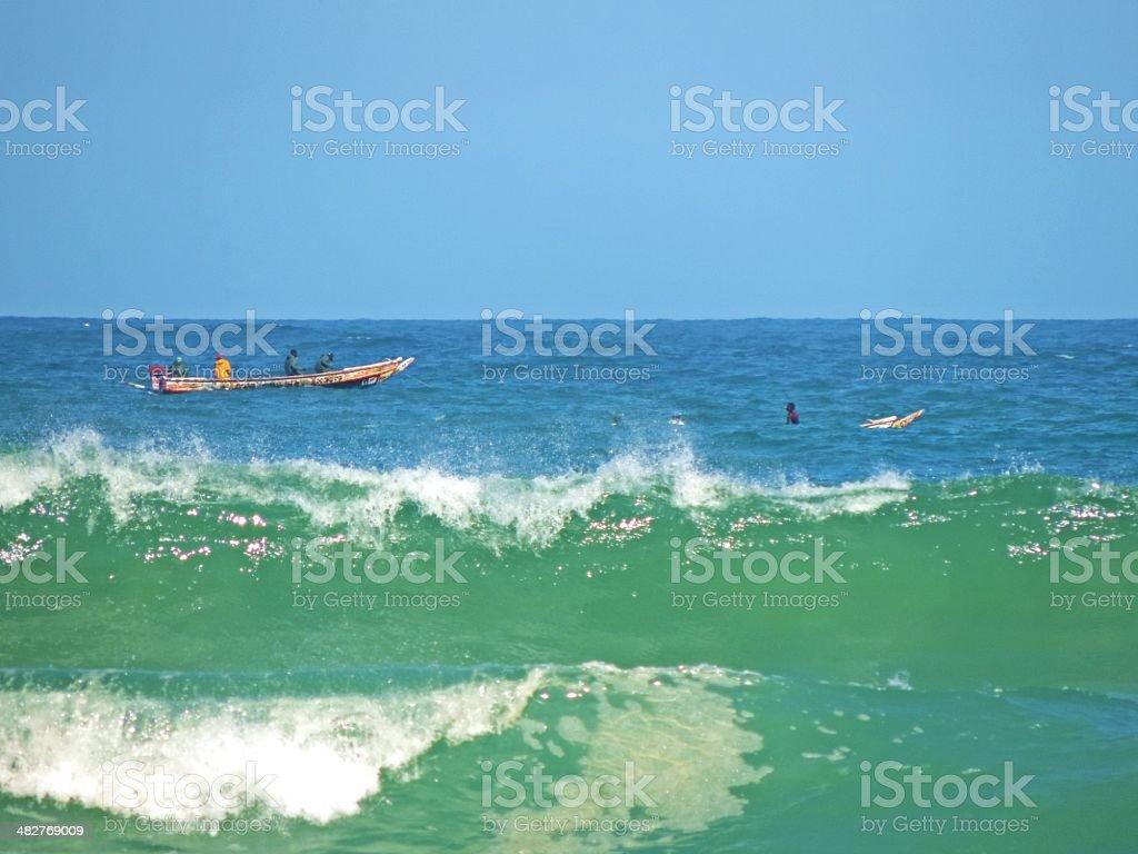 fale na oceanie stock photo