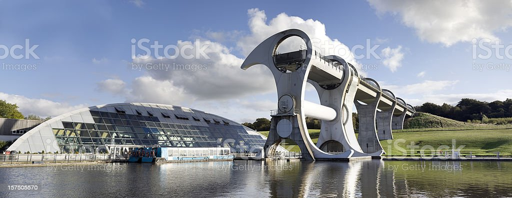 Falkirk Wheel and Visitor Centre. stock photo