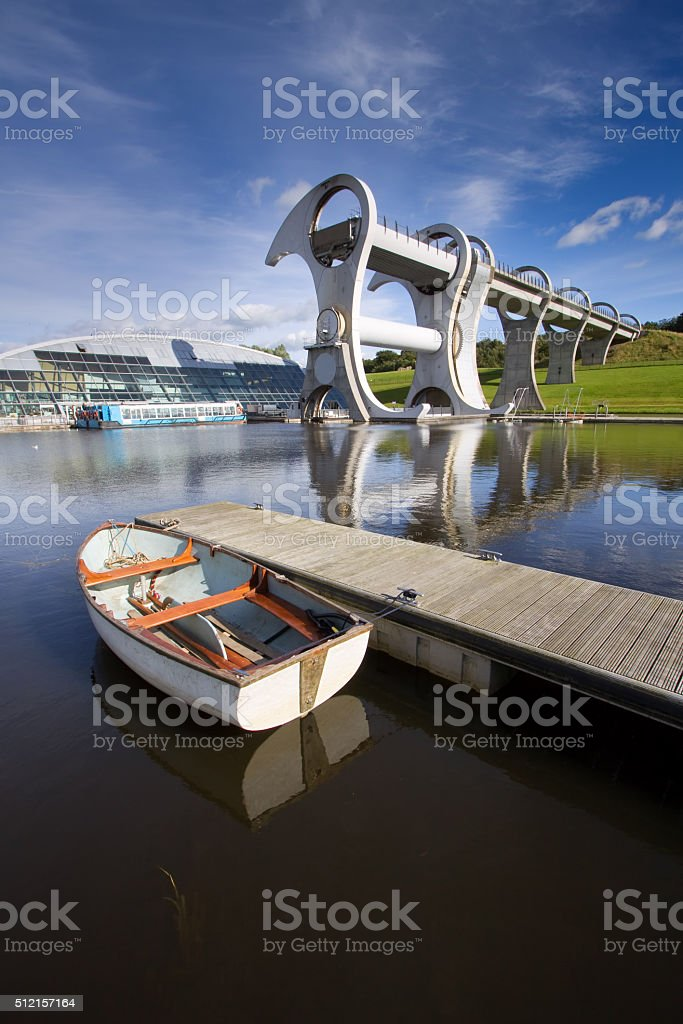 Falkirk Wheel Boat Lift, Scotland stock photo
