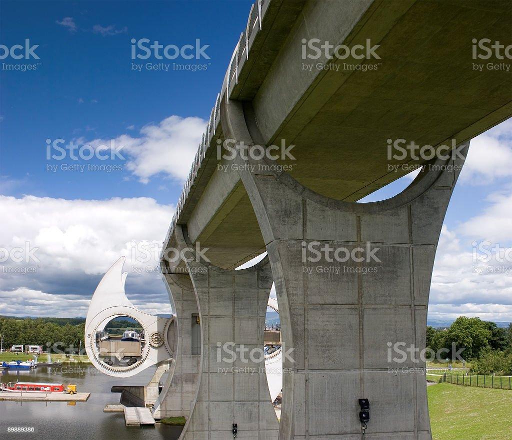 Falkirk Wheel royalty-free stock photo