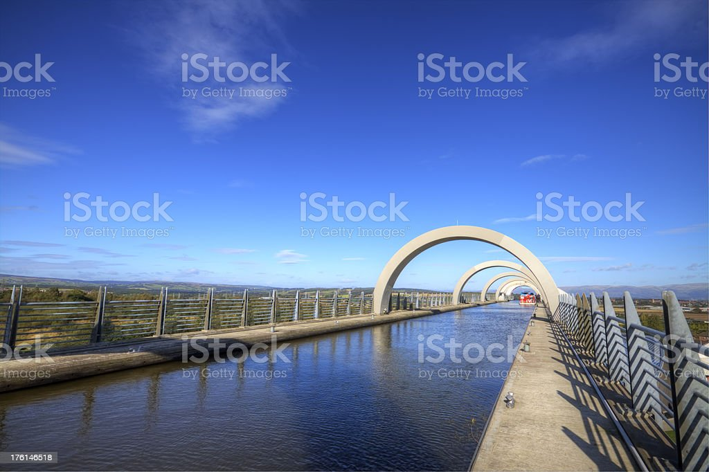 Falkirk Wheel Top Section. stock photo