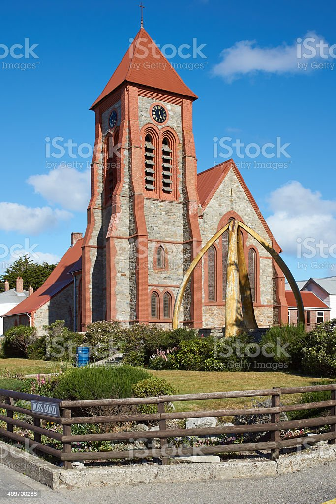 Falkland Islands Cathedral stock photo