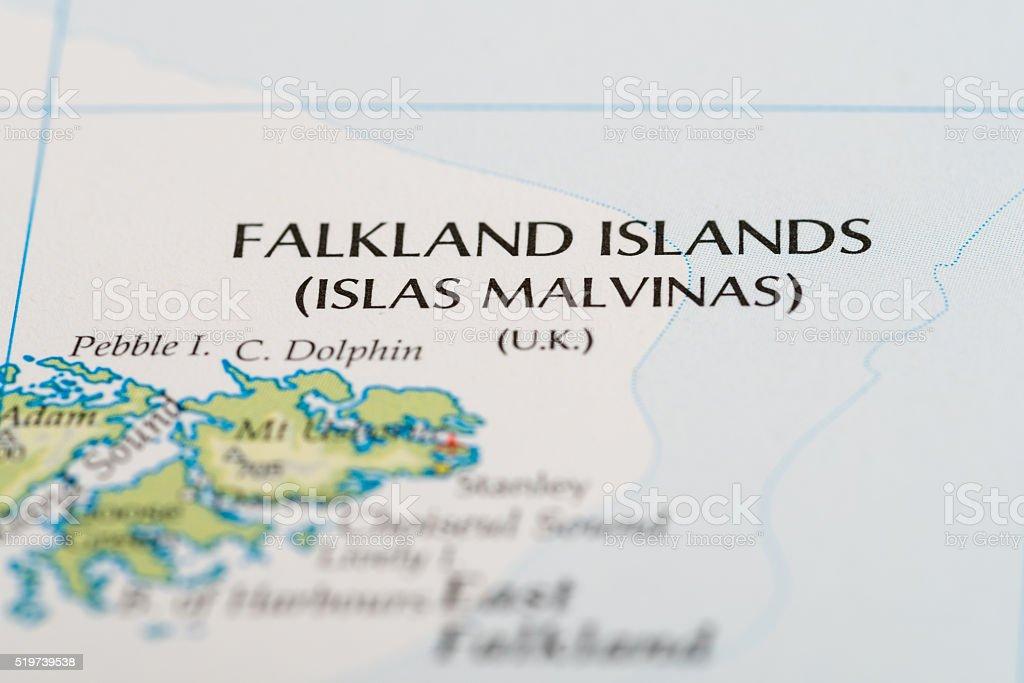 Falkland Islands map stock photo