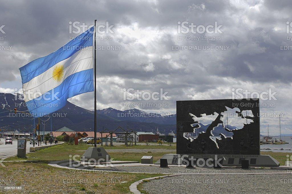 Falklands Memorial royalty-free stock photo