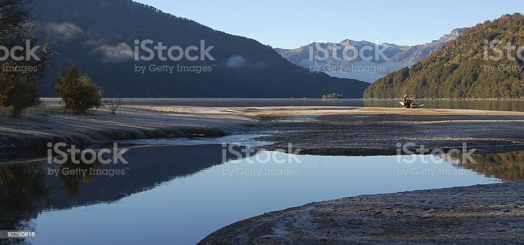 Falkner Lake Patagonia royalty-free stock photo